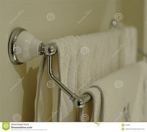 Towels Hanging In Bathroom Stock Bath Towel Rack Stock Image Image Of Cotton Linen