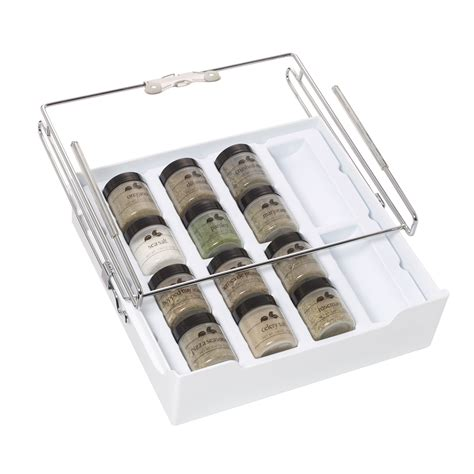 spice drawer organizer kamenstein xtra drawer shelf pull out storage tray