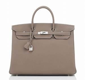 Hermes Birkin Bag 40cm Etoupe Togo Palladium Hardware ...  Hermes