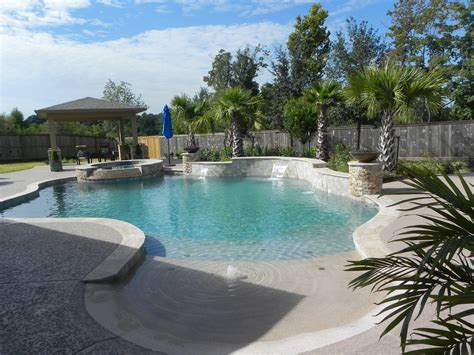 outdoor pool landscaping freeform pools cypress freeform swimming pool