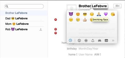 names for boyfriend in phone make your contacts list more visual with emoji os x tips