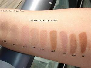 Productrater Maybelline Fit Me Foundation Swatches