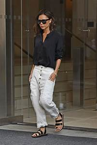 Back in Black: Victoria Beckham's Button-Up Blouse and