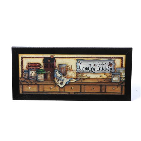 wayfair kitchen wall decor charlton home country kitchen shelf framed graphic