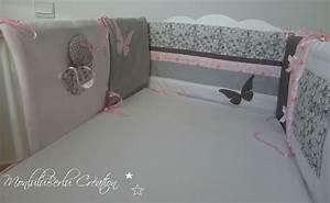 Tour De Lit Rose : tours de lit jumelles liberty taupe rose poudr gris monluluberlu cr ation ~ Teatrodelosmanantiales.com Idées de Décoration