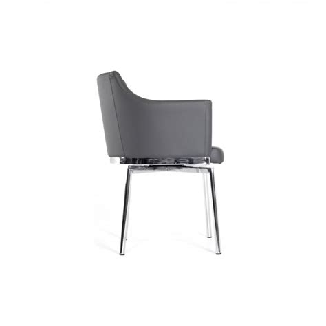 modrest kaweah modern grey dining chair dining chairs