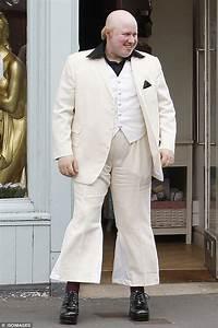 Matt Lucas films silent comedy Pompidou in high-waisted ...
