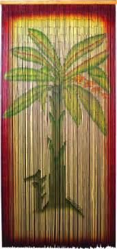 bamboo beaded curtain banana tree