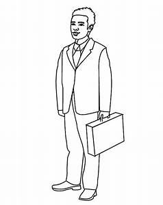 Business Man Coloring Pages Pagesfull Sketch Coloring Page
