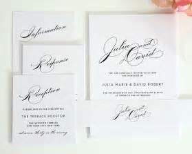 simple wedding invitations simple wedding invitation suite with large names wedding invitations