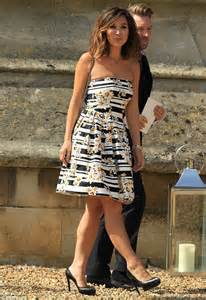simple white dress for wedding myleene klass meets up with amanda holden at geri halliwell 39 s wedding daily mail
