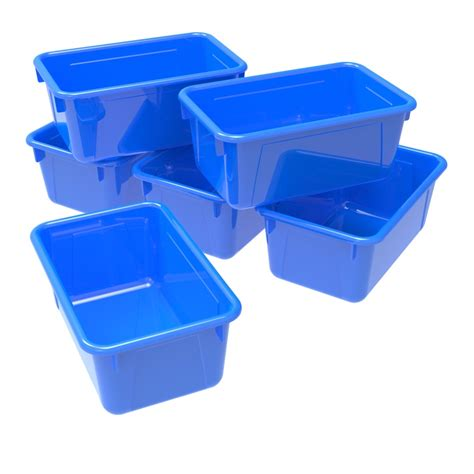 storex small cubby bin plastic storage container fits