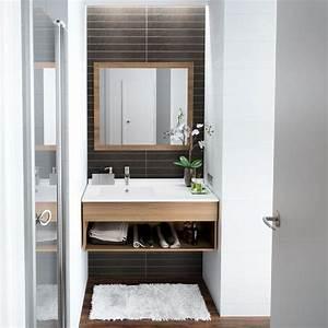 Amenager Une Petite Salle De Bain : petite salle de bain 12 photos pour l 39 am nager et la d corer c t maison ~ Melissatoandfro.com Idées de Décoration