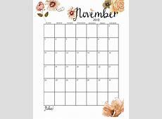 Cute 2019 Monthly Calendar Calendar 2019