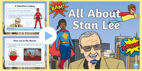 * New * Ks1 All About Stan Lee Powerpoint  Marvel, Spiderman