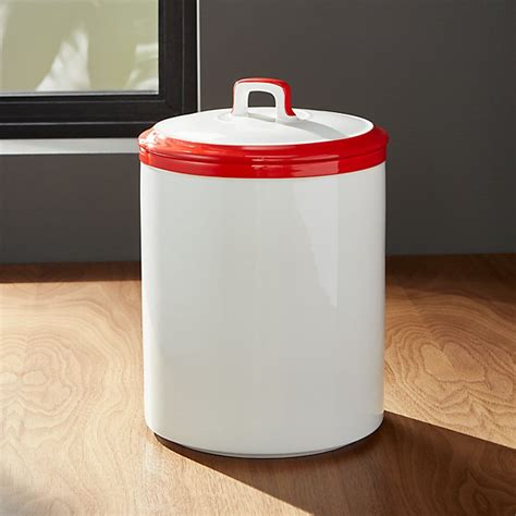 white kitchen canister baker and white kitchen canister medium crate and barrel