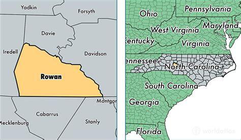 salisbury n c offender map rowan county north carolina map of rowan county nc
