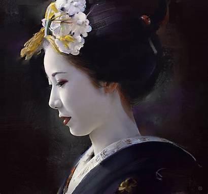 Geisha Wallpapers Japanese Geishas Desktop Profile Side