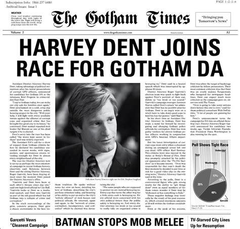 gotham times newspaperharvey dent basic newspaper