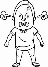 Angry Coloring Face Pages Drawing Anger Person Bad Mad Inside Printable Guys Cartoon Character Template Clipartmag Sketch Getdrawings Getcolorings Sheets sketch template