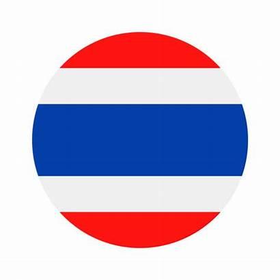 Flag Thai Vector Thailand Round Icon Illustrations