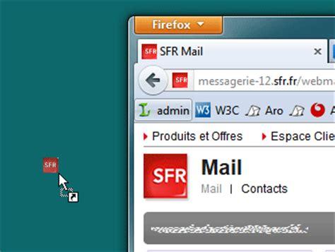 raccourci bureau gmail créer un raccourci vers la messagerie sfr sur le bureau de