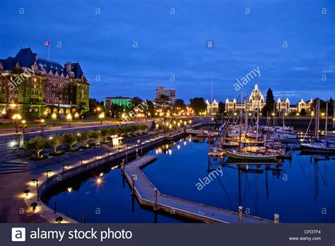 Buy A Boat Victoria Bc by Victoria Harbour At Night Vancouver Island Bc Canada