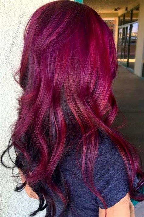 the 25 best magenta hair ideas on plum purple