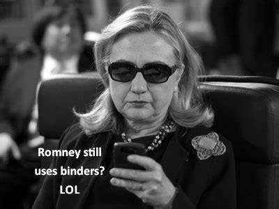 Hillary Clinton Cell Phone Meme - internet goes wild over binders full of women cnn political ticker cnn com blogs