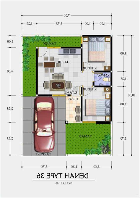 denah rumah minimalis kamar  gambar desain rumah