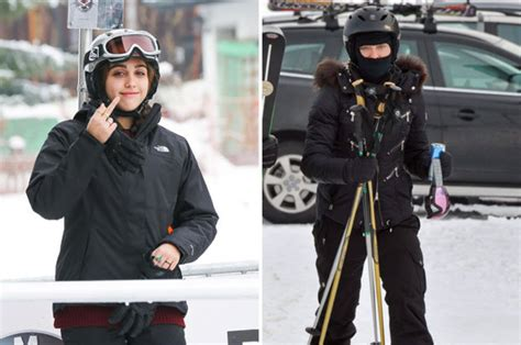 lourdes flips  finger    ski slopes