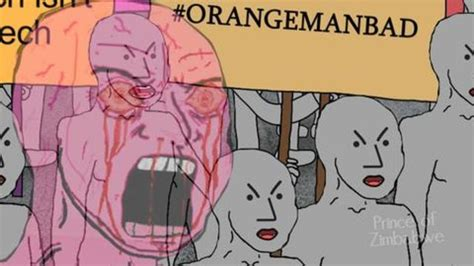 Image result for npc orange man bad