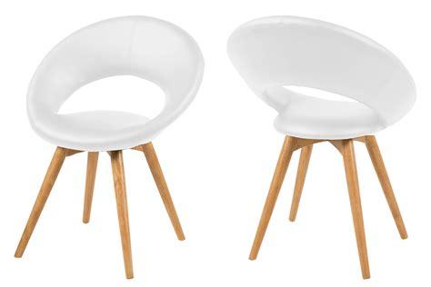 fauteuil bureau cuir blanc fauteuil design en cuir blanc et piètement bois mule mykaz