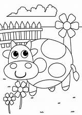 Cute Coloring Pages Easy Tulamama Cow sketch template