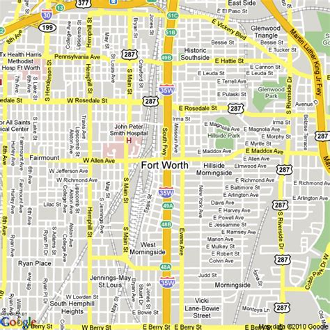 map of fort worth united states hotels accommodation