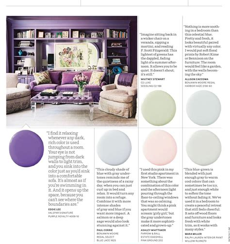 color relaxing purple royalty  pastels interiors