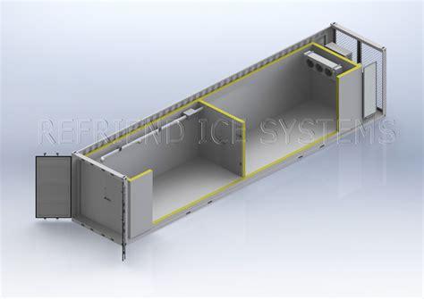container chambre froide l 39 énergie solaire 40ft conteneurmoto chambre froide
