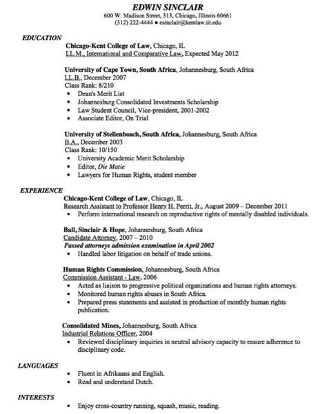 sle candidate attorney resume http exleresumecv
