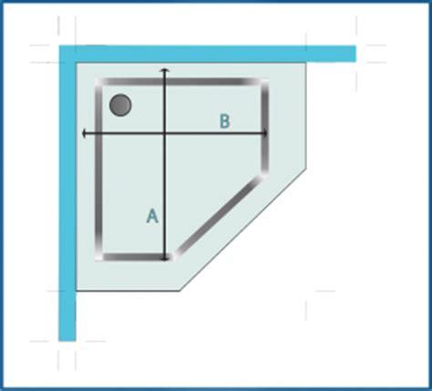 box doccia pentagonale piatto doccia come prendere le misure box doccia