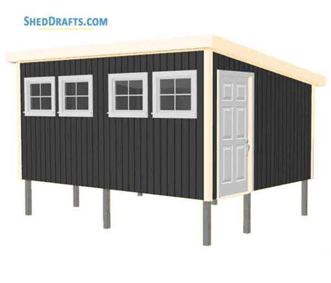 lean  pole shed plans blueprints  craft  tool