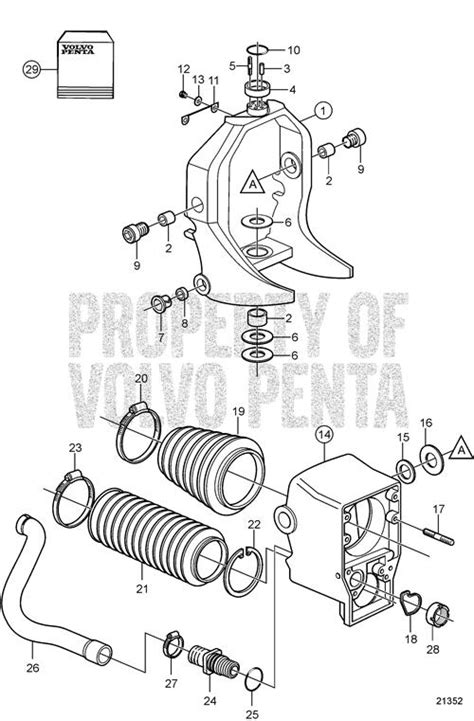 volvo penta exploded view schematic gimbal ring
