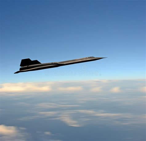 Supersonic Fighter Jet At High Altitude Stock Image