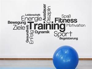 Wandtattoo Wortwolke Training für Sportler Wandtattoos de