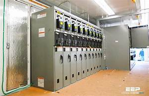 The Consumer Power Substation With Metering On Medium
