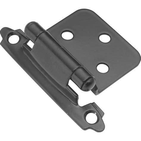 Kitchen Ideas With Black Appliances - hickory hardware surface mount black self closing overlay hinge 2 pack p144 bl the home depot
