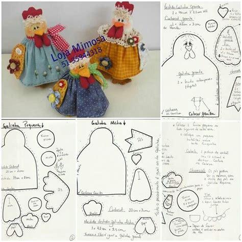 craft ideas with doilies galinha molde galinha patchwork dolls 3971
