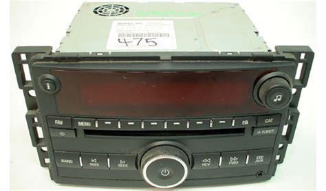 radio cd player saturn 2008 saturn vue factory oem original car stereo with am fm cd mp3 player ebay