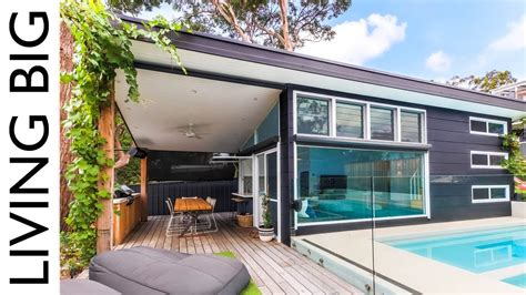 Backyard Built by Luxury Modern Small Home Built In Suburban Backyard
