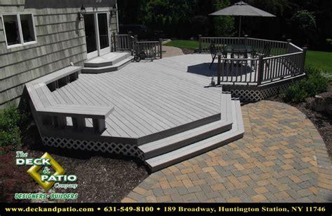 wood and composite decks trex timbertech azek deck
