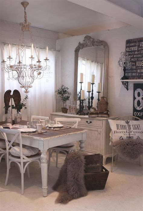 chic dining room wall decor 35 beautiful shabby chic dining room decoration ideas Rustic